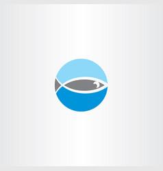 fish logo design element sign vector image