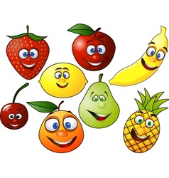 fruits cartoon vector image