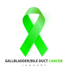 gallbladder and bile duct cancer awareness month vector image