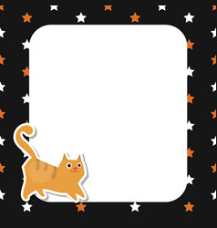 Greeting card with cute cat greeting card with vector