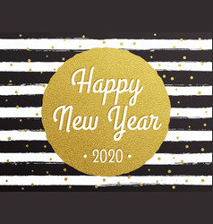 Happy new year 2020 glitter gold confetti on vector