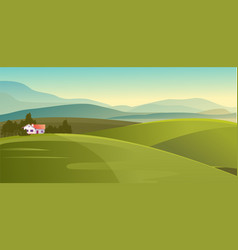 house in countryside meadows vector image