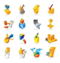 Icons for retail commerce vector image