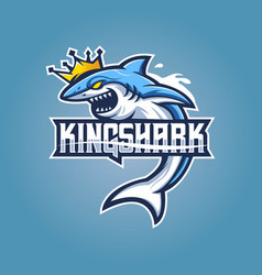 King shark esport logo vector