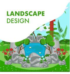 landscape design flat banner template vector image