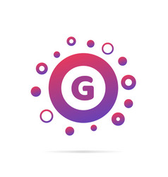 Letter g with group of dots icon vector