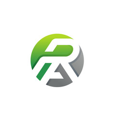letter r and a logo design vector image