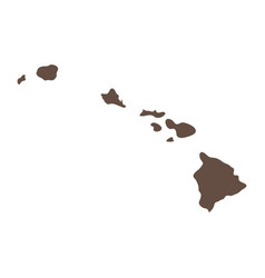 map us state hawaii vector image