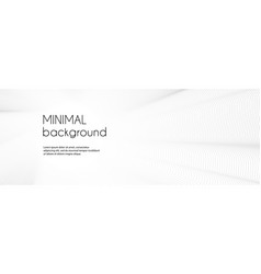 Minimal white banner with wavy lines abstract vector