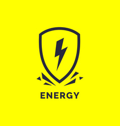 Modern minimalistic logo energy the lightning vector