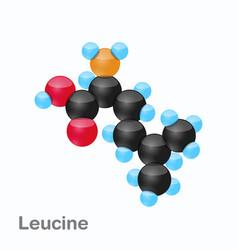 Molecule of leucine leu an amino acid used in vector