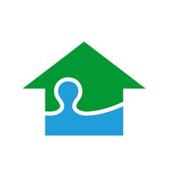 natural water company logo icon vector image