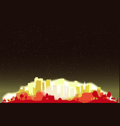 Night sky city glow vector