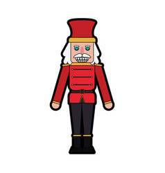 nutcracker figurine icon image vector image