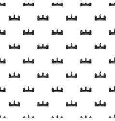 old castle pattern seamless vector image