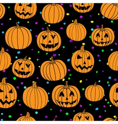 Party halloween print seamless pattern with vector image