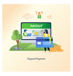 payment with e-money or card vector image