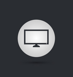 pc monitor or tv icon in circle vector image