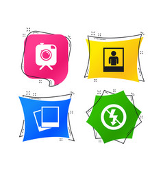 photo camera icon no flash light sign vector image