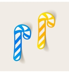 Realistic design element candy cane vector
