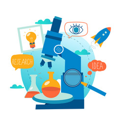 research science lab scientific experiment vector image