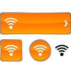 Rss button set vector image