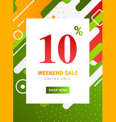sale promo banner weekend offer big discount 10 vector image
