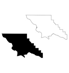 San luis obispo county california map vector