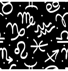 Seamless pattern with zodiac signs for your design vector