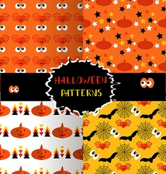 Set of halloween patterns4 vector image