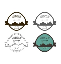 Set of Mountain campsite logo templates Outdoor vector image