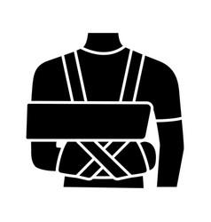 shoulder immobilizer glyph icon vector image