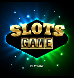 slots game casino banner vector image vector image