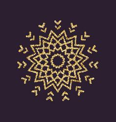 snowflake icon christmas and new year xmas vector image