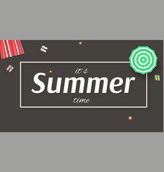 Summer background banner with sun umbrellas vector