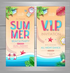 Summer party poster design disco party invitation vector