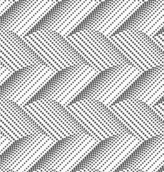 Textured with halftone squares horizontal chevron vector image