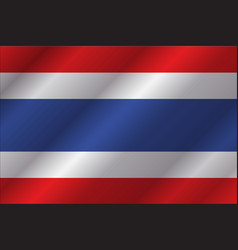 Thailand flag in art design 6 vector