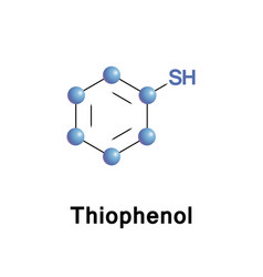 Thiophenol organosulfur compound vector