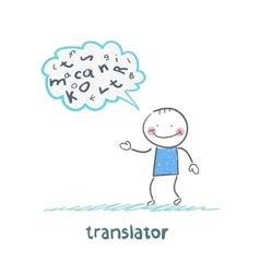 Translator is thinking about letters vector
