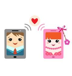 Valentine message vector image