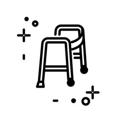 walker isolated line icon medical equipment vector image