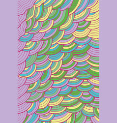 wavy pattern background - colorful cartoon waves vector image