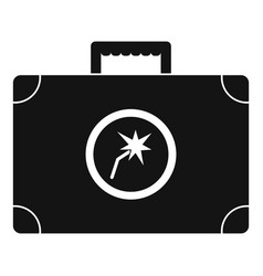 welding bag icon simple style vector image