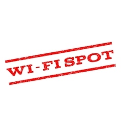Wi-fi spot watermark stamp vector