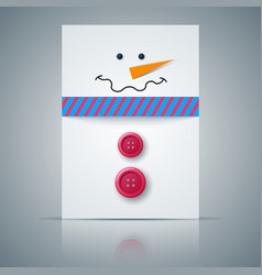 winter postcard a4 snowman vector image