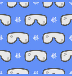 winter ski goggles seamless pattern vector image