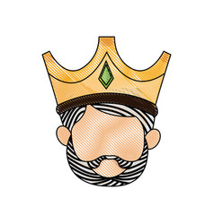 Wise king manger character catholic image vector
