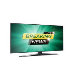 breaking news live background green tv vector image vector image