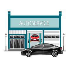 car services outside with car vector image vector image